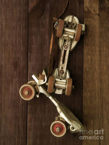 Wall Art - Photograph - Hang Up Your Skates - Oil by Edward Fielding