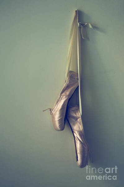 Pointe Shoes Wall Art - Photograph - Hanging Ballet Slippers by Diane Diederich