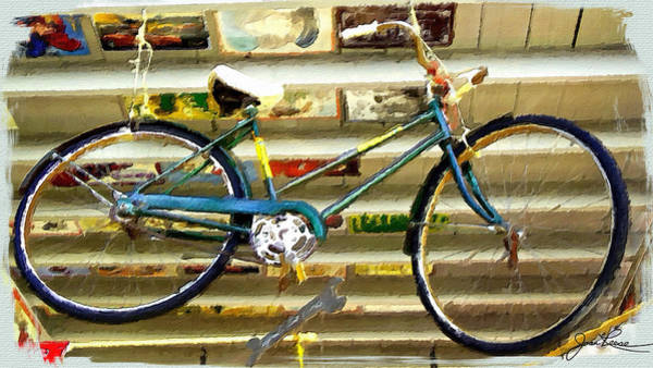 Painting - Hanging Bike by Joan Reese