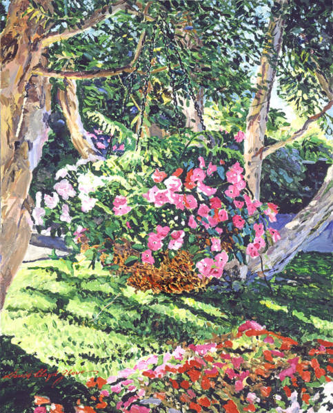 Painting - Hanging Flower Basket by David Lloyd Glover