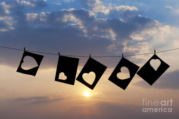 Hanged Photograph - Hanging Hearts by Tim Gainey