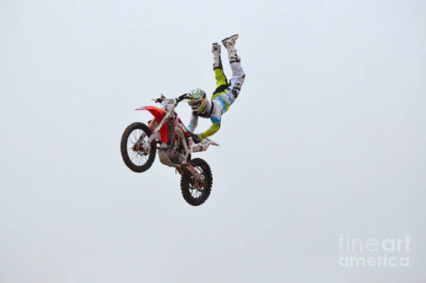 Dirtbike Photograph - Hanging On For Life by DejaVu Designs