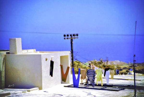 Wall Art - Photograph - Hanging Out In Greece by Madeline Ellis