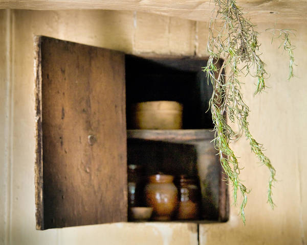 Photograph - Hanging Spice And Cupboard - Rosemary - Cottage Chic by Gary Heller