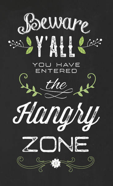 Farmhouse Kitchen Painting - Hangry Zone by Tammy Apple
