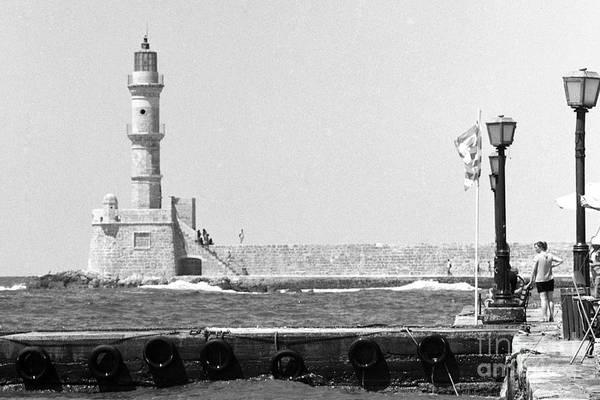 Photograph - Hania Lighthouse And Quay by Paul Cowan