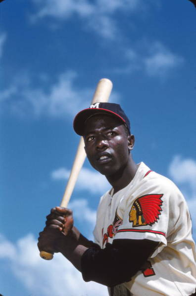 National Baseball Hall Of Fame Photograph - Hank Aaron Of The Milwaukee Braves by Retro Images Archive