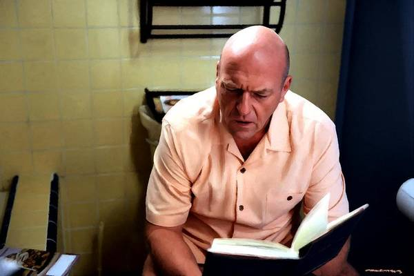 Digital Art - Hank Schrader Sitting On Wc Breking Bad - Last Season And Last Scene by Gabriel T Toro