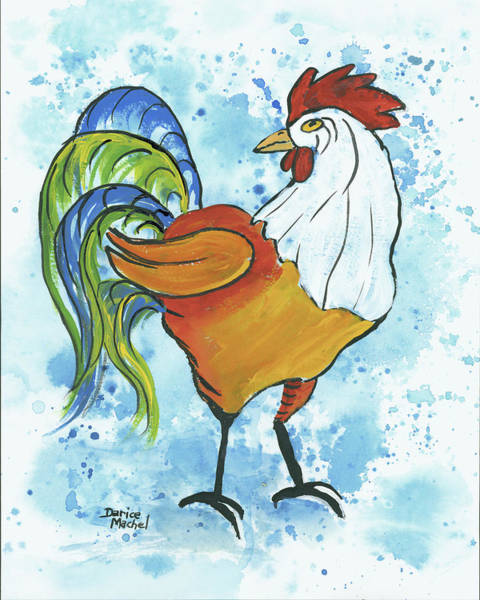 Painting - Hank The Rooster by Darice Machel McGuire