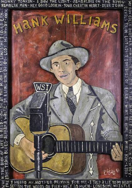 Bbq Painting - Hank Williams by Eric Cunningham