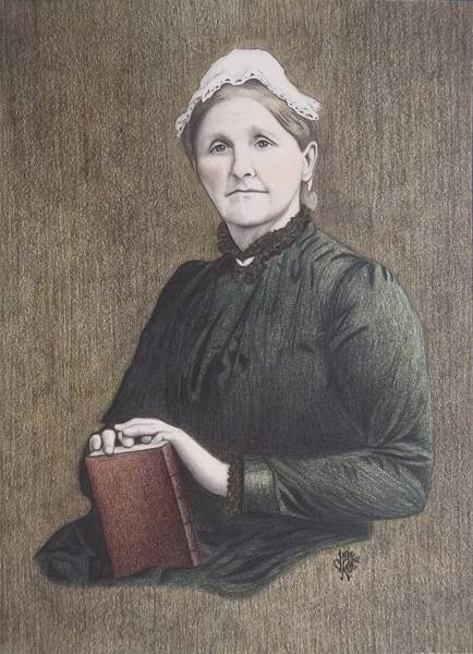 Drawing - Hannah Whitall Smith by Danielle R T Haney