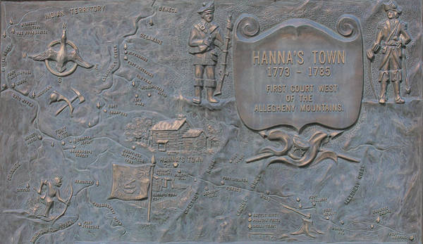 Road Map Photograph - Hannastown Historical Site Map Marker by Randy Steele