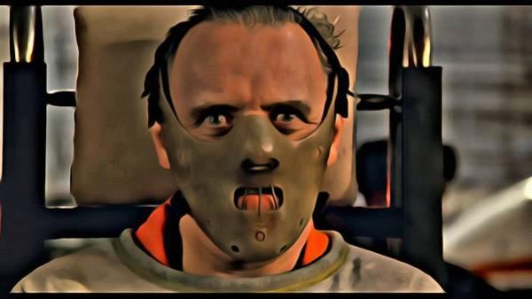 Painting - Hannibal Lecter by Florian Rodarte