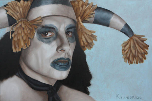 Wall Art - Painting - Hano Clown By K Henderson  by K Henderson