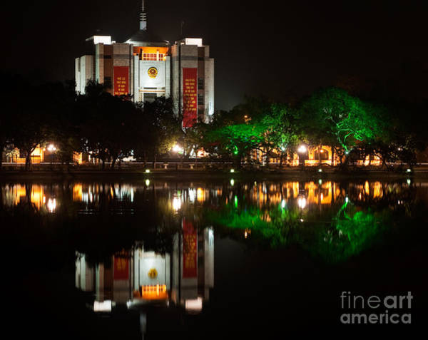 Photograph - Hanoi People's Committee Building At Night by Rick Piper Photography
