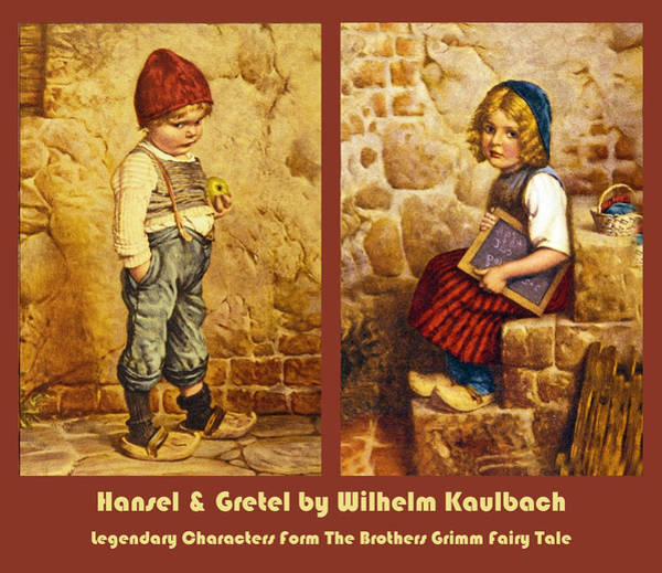 Wooden Shoe Digital Art - Hansel And Gretel Brothers Grimm by Wilhelm Kaulbach