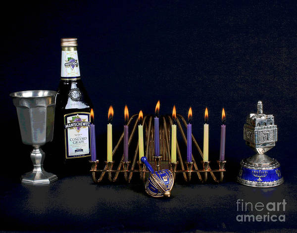 Photograph - Hanukah Candles by Larry Oskin