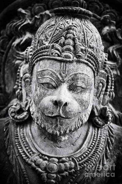 Wall Art - Photograph - Hanuman Monochrome by Tim Gainey