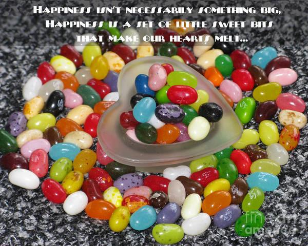 Jelly Belly Photograph - Happiness Is Made Of Tiny Bits by Ausra Huntington nee Paulauskaite