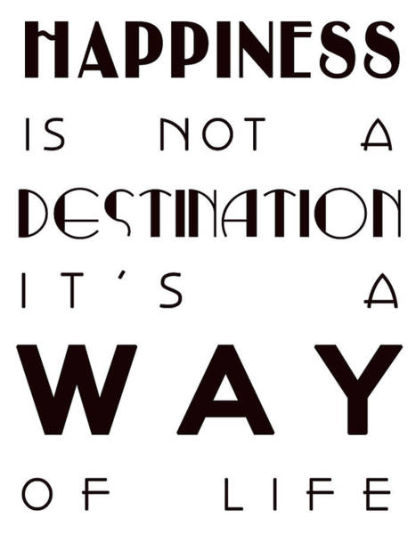 Hippy Digital Art - Happiness Is Not A Destination by Georgia Fowler