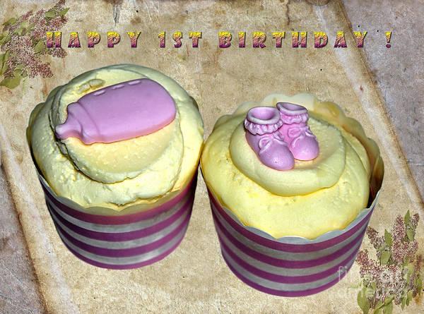 Icing Digital Art - Happy 1st Birthday by Kaye Menner