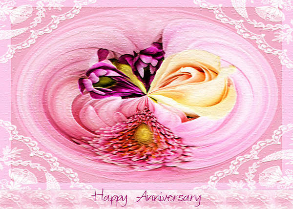 Pink Wall Art - Photograph - Happy Anniversary Bouquet by Paula Ayers