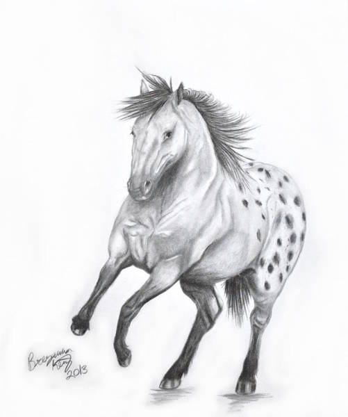 Appaloosa Drawing - Happy Appy by Breyanna King