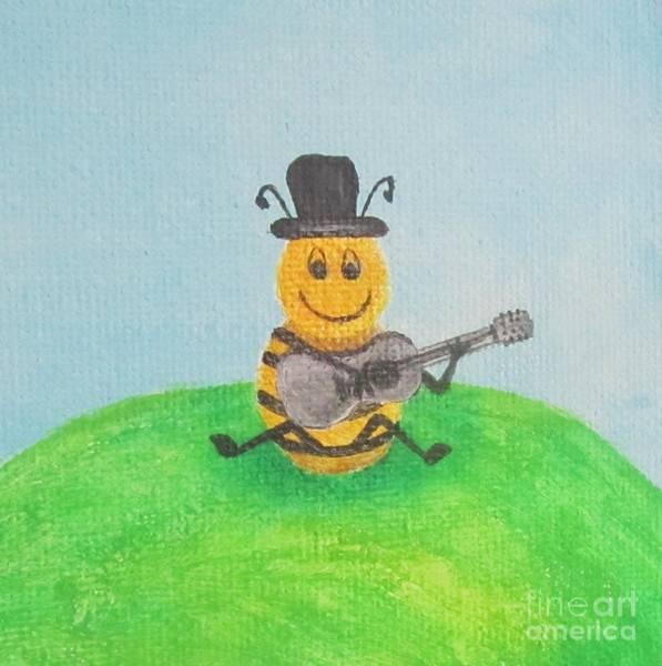 Wall Art - Painting - Happy Bee by Jeepee Aero