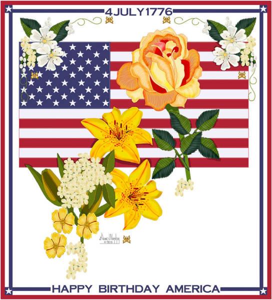 Wall Art - Painting - Happy Birthday America 2013 by Anne Norskog