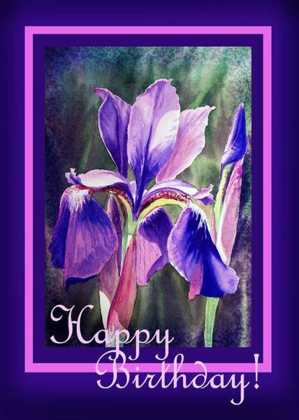 Painting - Happy Birthday Iris  by Irina Sztukowski