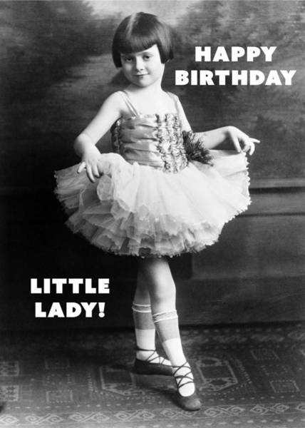 Wall Art - Photograph - Happy Birthday Little Lady Greeting Card by Communique Cards