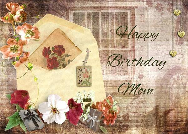 Love Wall Art - Mixed Media - Happy Birthday Mom by Paula Ayers
