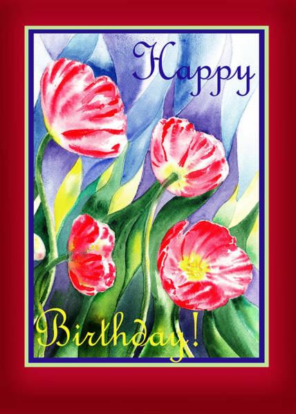 Painting - Happy Birthday Pink Poppies by Irina Sztukowski