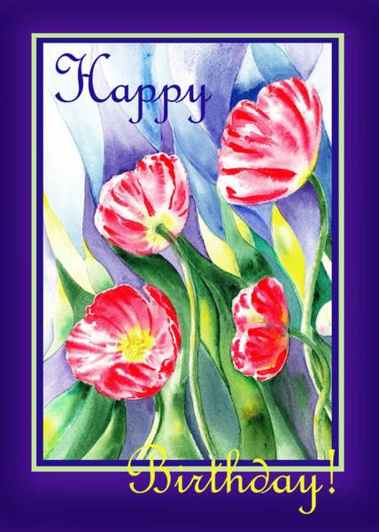 Painting - Happy Birthday Poppies by Irina Sztukowski