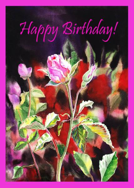 Painting - Happy Birthday Rose by Irina Sztukowski