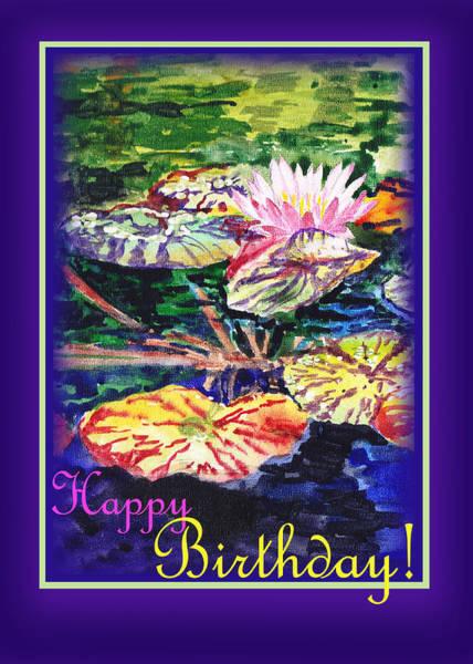 Painting - Happy Birthday Water Lilies  by Irina Sztukowski