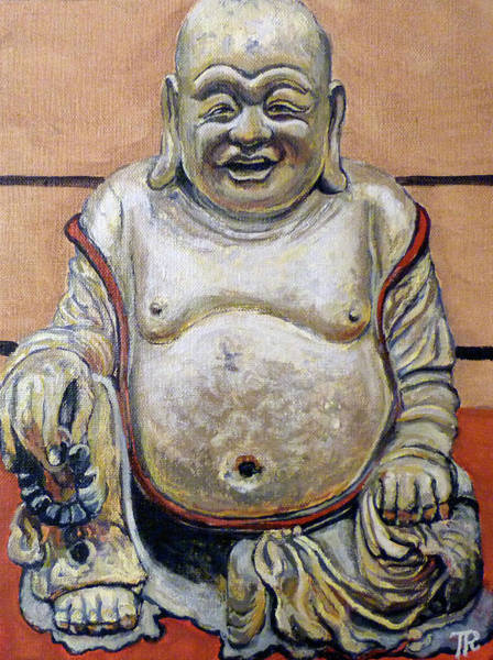 Painting - Happy Buddha  by Tom Roderick