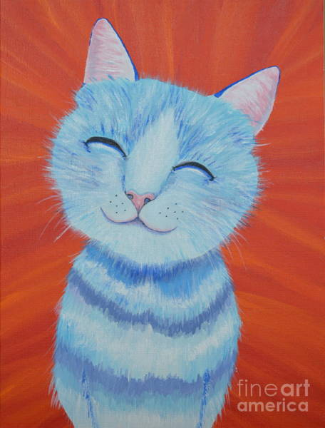 Painting - Happy Cat by Mary Scott