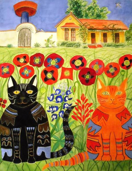 Painting - Happy Cats by Vera  Smith