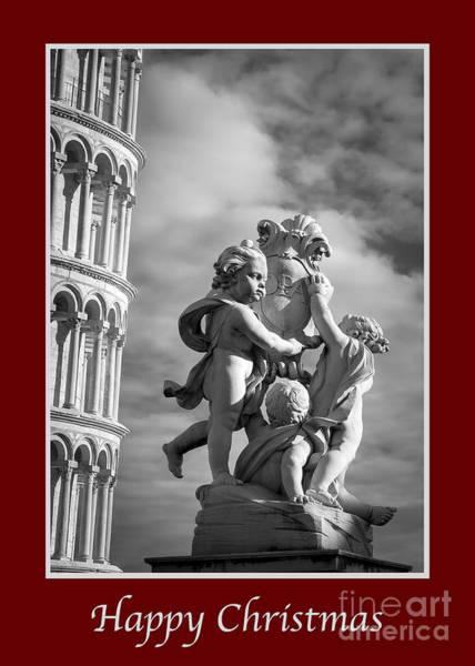 Photograph - Happy Christmas With Fountain Of Angels by Prints of Italy