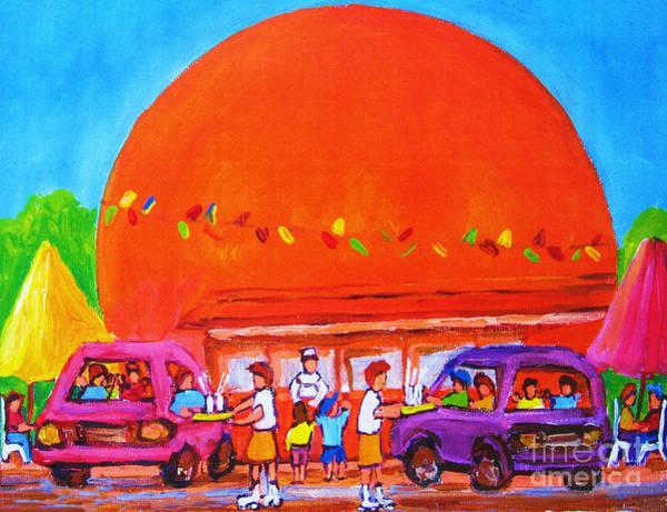 Painting - Happy Days At The Big  Orange by Carole Spandau