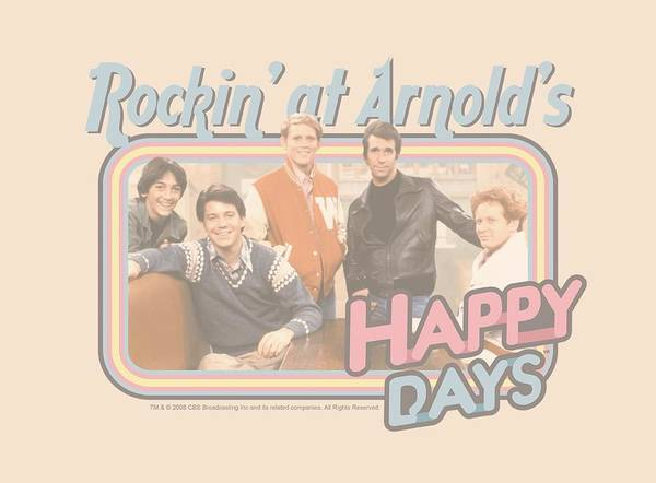 Tv Wall Art - Digital Art - Happy Days - Rockin' At Arnold's by Brand A