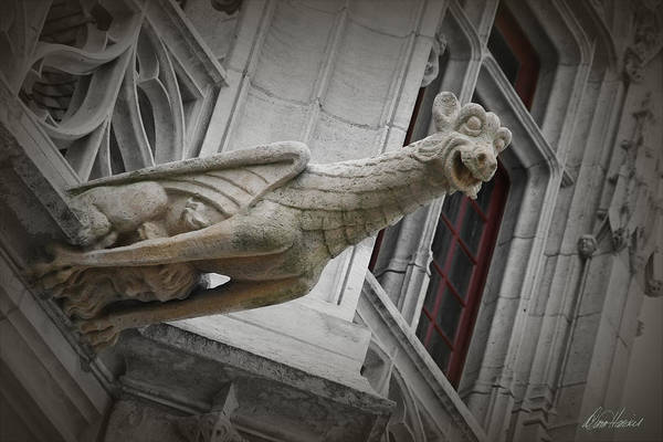 Photograph - Happy Gargoyle Holding Human Head by Diana Haronis