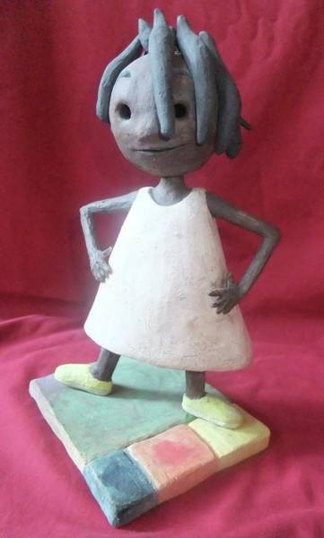 Wall Art - Sculpture - Happy Girl by Ann Meany