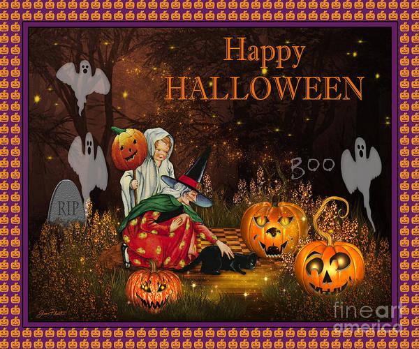 Wall Art - Digital Art - Happy Halloween-boo by Jean Plout