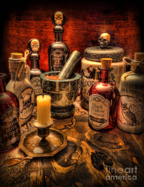 Wicca Photograph - Happy Halloween II by Lee Dos Santos