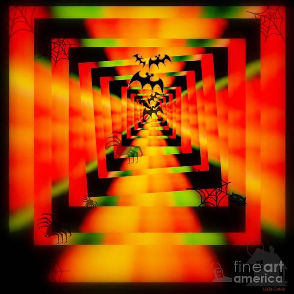 Ghoul Digital Art - Happy Halloween by Linda Galok