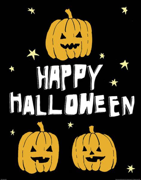 Halloween Painting - Happy Halloween by Wild Apple Portfolio