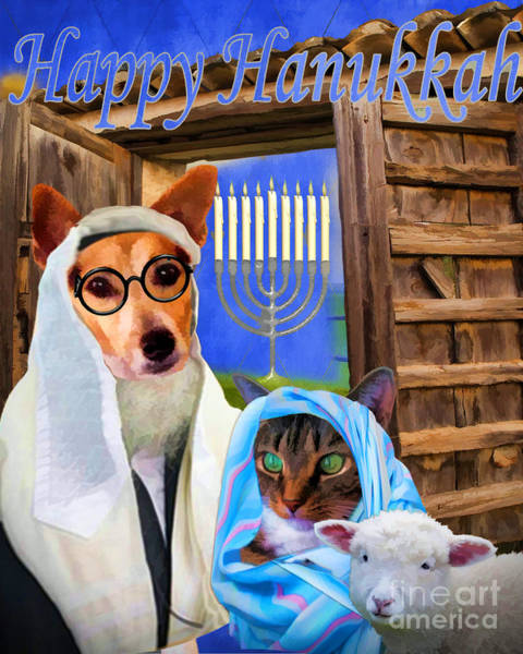Digital Art - Happy Hanukkah  - 2 by Kathy Tarochione
