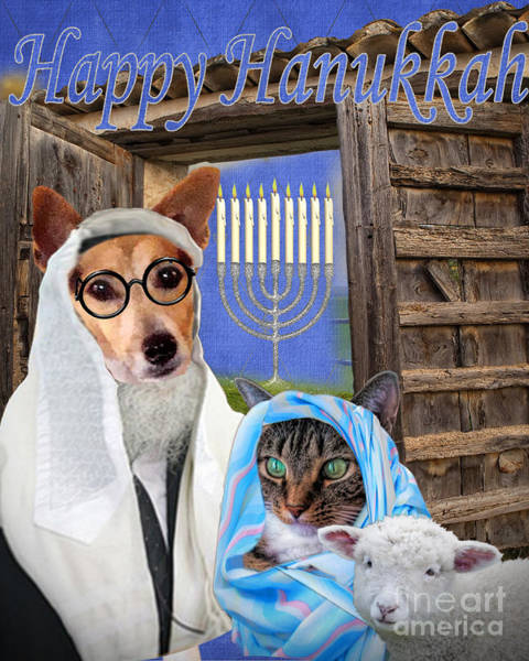 Digital Art - Happy Hanukkah -3 by Kathy Tarochione